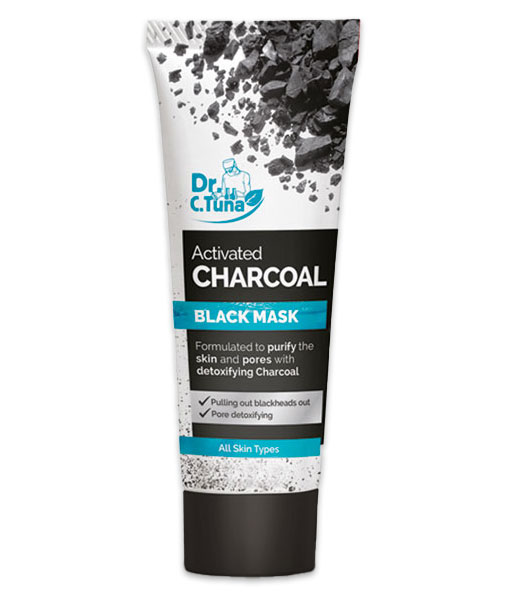 DR C TUNA ACTIVATED CHARCOAL DETOXIFYING BLACK MASK 80 ml